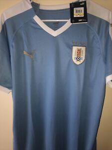 NWT PUMA URUGUAY Soccer Home DryCell Jersey La Celeste Size Medium