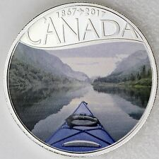 2017 $10 Celebrating Canada's 150th: Kayaking on the River 99.99% Pure Silver