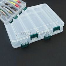 12 Compartments Fishing Lure Box Tackle Double-Side Storage Plastic Large Hot LF
