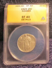 1929 Standing Liberty Quarter ANACS EF 40 - details cleaned