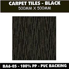 CARPET TILES – 500x500 - BLACK  - SAVE 60%* ON RETAIL PRICES