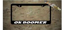 OK BOOMER Plastic License Plate Frames Holder Vinyl Decal