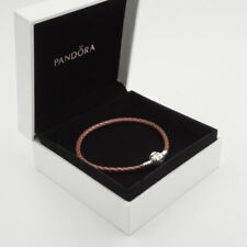 Rose Genuine Pandora Moments Woven Leather Bracelet (S925 ALE) 19cm (S2)