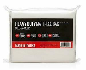 Sleep Armour Mattress Bag : Heavy Duty 4 mil Thick Mattress Bag for Moving/St...