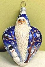 New ListingPatricia Breen True Love Santa Blue Blown Glass Glitter 2003 #2355 4� Ornament