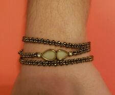 Silpada Rosy Wrap Swaovski Crystals, Resin & Brass Adjustable Bracelet