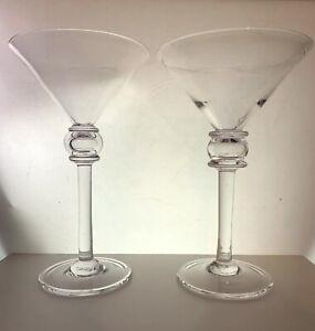 Simon Pearce Martini Glasses (2)
