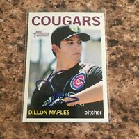 Dillon Maples Signed 2013 Topps Heritage Minor League Rc Auto Chicago Cubs