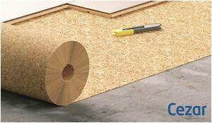 UNDERLAY CORK SHEET ROLL THICKNESS 2mm - 1M x 10M x 2mm ( 10 m2)