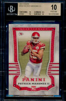 BGS 10 Pristine RC Patrick Mahomes II 2017 Panini #104 Rookie .5 to Black Label