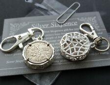 52nd Anniversaire Cadeau 1966 Lucky Argent Sixpence Coin Porte-clés Charme