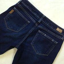 Paige Petite Premium Denim Laurel Canyon Dark Wash Boot Cut Jeans Women's sz 28