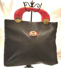 Vintage Lumured Made In USA Black Clutch, Wristlet Adorable in great cond.
