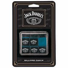 New Jack Daniels 6-Piece Billiard Pool Chalk (Blue)