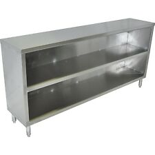 15x72 Stainless Steel Commercial Dish Cabinet