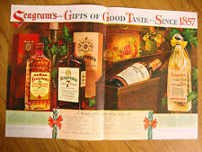 1941 Seagram's Whiskey Ad  Only Finest is Fine Enough for Christmas