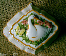 GOOSE & BUTTERFLY CHINA JELLY MOULD FRANKLIN MINT  LE CORDON BLEU PERFECT