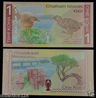 CHATHAM ISLANDS NEW ZEALAND 1 Koha Polymer Note 2013 UNC