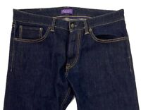 $500 Ralph Lauren Purple Label Raw Blue Jeans Size 32 Made in Italy
