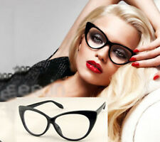 Cat Modeling Plain Glass Spectacles Eyeglass Frames Optical Eyewear BLACK