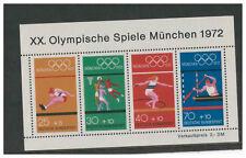 Alemania Deutsche Bundespost 1972 Juegos Olímpicos de Munich minipliego estampillada sin montar o nunca montada