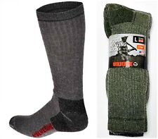 Wolverine Made In USA Mens Merino Wool Blend Hunting Socks Size 9-13 Six Pairs