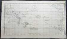 1774 Hawkesworth Large Antique Map of Australia & South Seas 1765-71 - Capt Cook