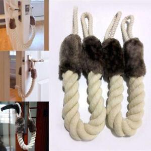 Cotton Linen Rope For Door  Handle Stopper Door Slamming Shut Wedge Doorstop