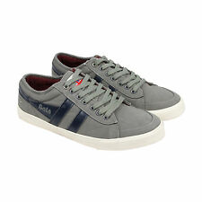 Gola Comet Mens Grey Blue Canvas Lace Up Sneakers Shoes 7