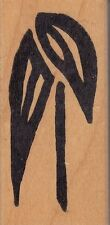"""flower hot potatoes Wood Mounted Rubber Stamp 1 1/2 x 3""""  Free Shipping"""