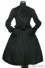 VINTAGE German folk costume handmade black wool jacket skirt apron SCHWALM VGC