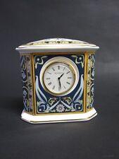 Wedgwood Blue Elephant Bone China Mantle Clock