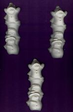 Stack of Snowmen plaster of Paris painting project. Set of 6!