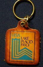 1980 Lake Placid NY  Olympics Winter Games , USA Leather Key Ring