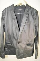 SURFACE TO AIR MENS BLACK LONG SLEEVE 1 BUTTON JACKET SPORTCOAT SIZE L  (j500)