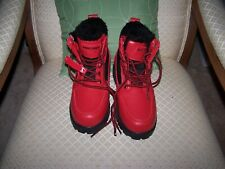 Phat Farm Red and Black Boots Hiking Shoes Mens Size US 4 NEW 637835-02R-KIDS