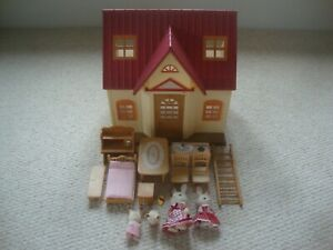 Sylvanian Families Cosy Cottage Starter Home with extras