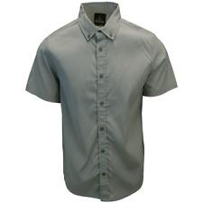 prAna Men's Light Grey S/S Woven Shirt (S11)