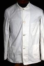 MUY RARO 588ms- 591ms Vintage Algodón Blanco Chaqueta de trabajo talla pequeña