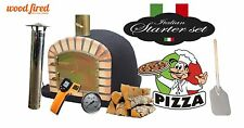 Outdoor wood fired Pizza oven 100cm x 100cm black Maxi-Deluxe extra package deal