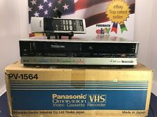 Panasonic PV-1564 VHS VCR Video Cassette Player Recorder w/ Remote VSQS0440 FIX