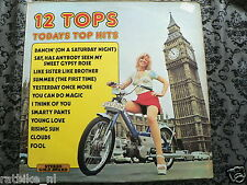 LP RECORD VINYL COVER PIN-UP & PUCH MAXI MOPED 12 TOPS TODAYS TOP HITS BROMFIETS