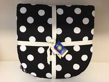 2 - Pier 1 Outdoor Patio Chair UV Cushions 17.5 x 17.5 Black White Polka Dot NEW