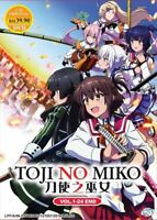 TOJI NO MIKO Katana Maidens Complete Series (1-24 End) English Dub SHIP FROM USA