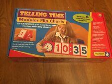 Lakeshore Telling Time Modular Flipcharts homeschool EUC analog digital class