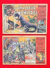 Lot de 2 n° Album Magazine COQ HARDI n°48 et 49.  Chasseur de Monstres. MARIJAC