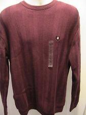 NEW Men's  Chaps Crewneck Sweater Red  Sz L Long Sleeve 100% Cotton NWT