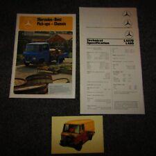 Mercedes-Benz L407D L409 L508D L608D Pick-ups Chassis Truck Lorry Brochure 1978