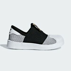 Adidas CG6586 infant toddler Superstar SMR 360 I baby shoes black white kids