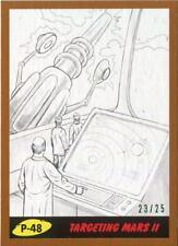 Mars Attacks The Revenge Bronze [25] Pencil Art Base Card P-48 Targeting Mars II